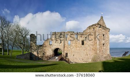 St Andrews Castle, Scotland - stock photo
