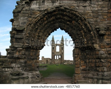 st andrews cathedral - stock photo