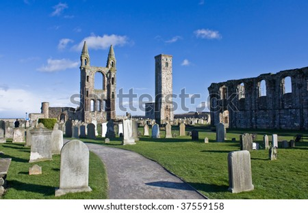 St Andrews Cathedral, Scotland - stock photo