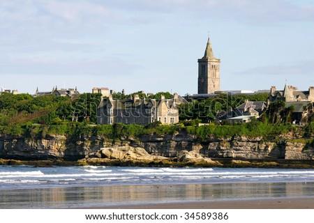 St Andrews in Scotland where golf originated here - stock photo