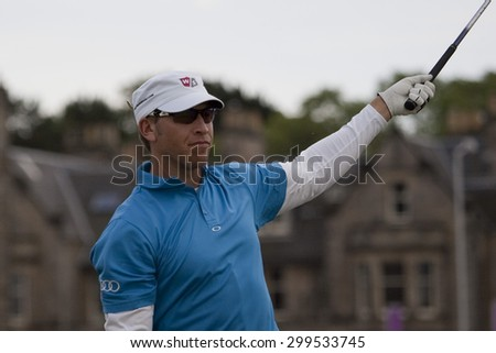 ST ANDREWS, SCOTLAND. July 18 2010: Ricky BARNES from the USA in action during the final round of The Open Championship   played on The Royal and Ancient Old Course