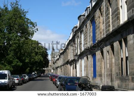 St Andrews street, Scotland - stock photo