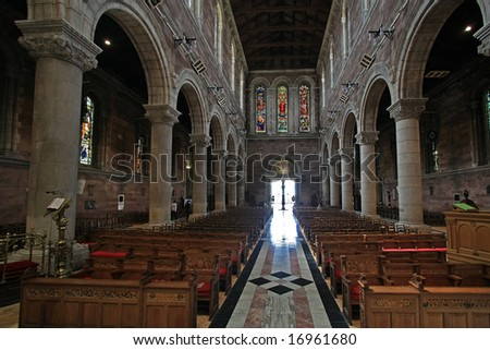 St. Anna's cathedral in Belfast - stock photo