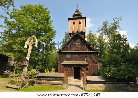 St Anne church from Vetrkovice near Pribor - stock photo