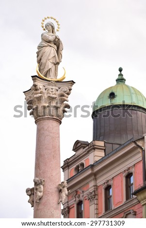 St. Anne Column, Innsbruck, Austria - stock photo