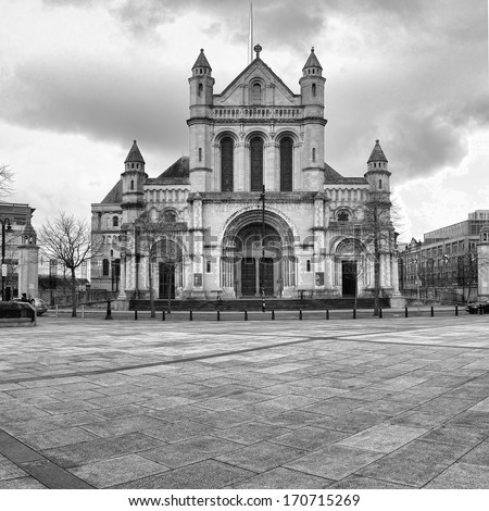 St Anne's Cathedral church has stood for over 100 years as a place of Christian worship in the heart of the City of Belfast. - stock photo