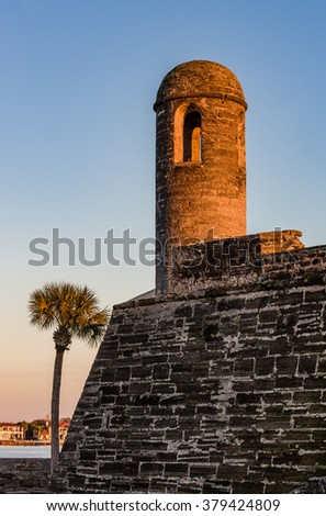 St. Augustine, Florida at the Castillo de San Marcos National Monument - stock photo