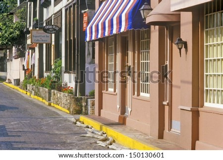 ST. AUGUSTINE, FLORIDA - CIRCA 1990'S: St. Augustine, the oldest city in America, Florida - stock photo