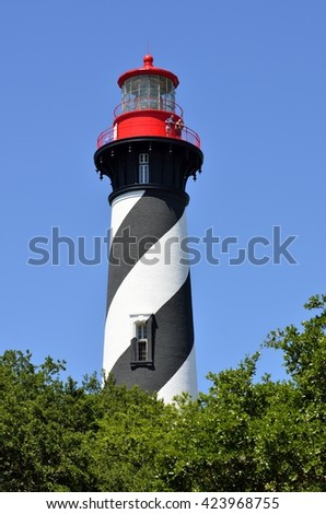 St. Augustine, Florida lighthouse - stock photo
