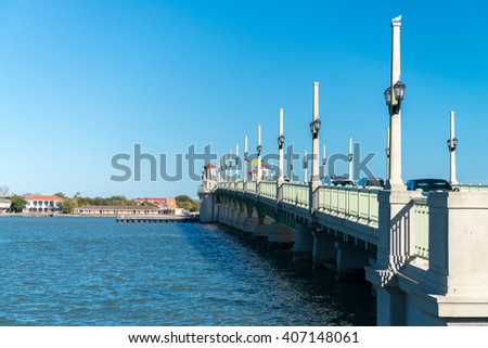 St. Augustine, Florida, USA. Bridge of Lions. - stock photo