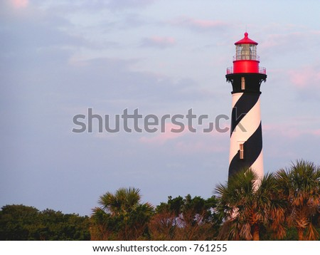 St. Augustine Lighthouse - stock photo