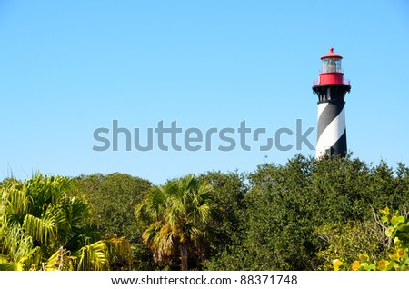 st augustine lighthouse florida usa - stock photo