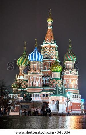 St. Basil Cathedral [at night] 4 - stock photo