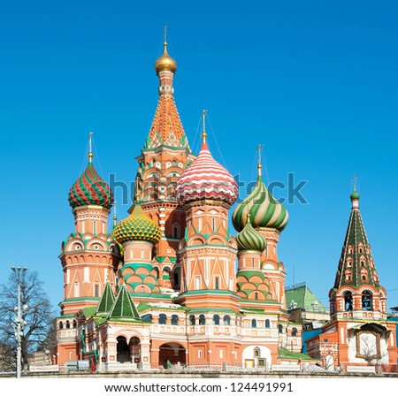 St. Basil's Cathedral, Red square, Moscow, Russia - stock photo