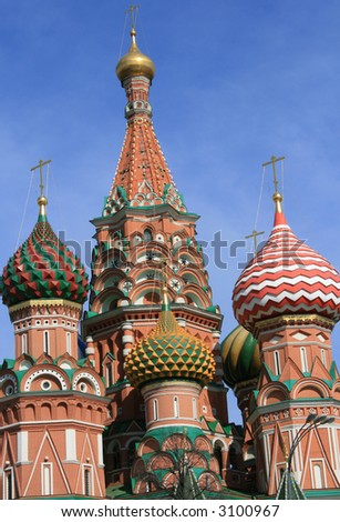 St. Basil's cathedral  (Red square, Moscow, Russia).