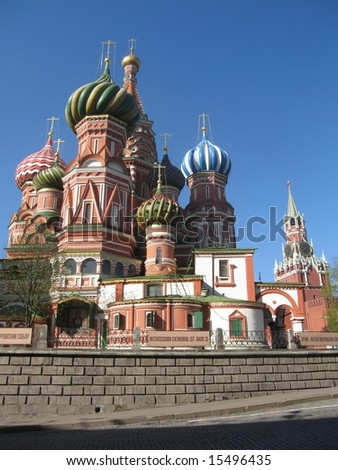 St. Basil's (Pokrovskiy) cathedral in Moscow, Russia, details
