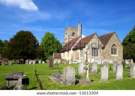 St Botolph's Church, Chevening in Kent - stock photo