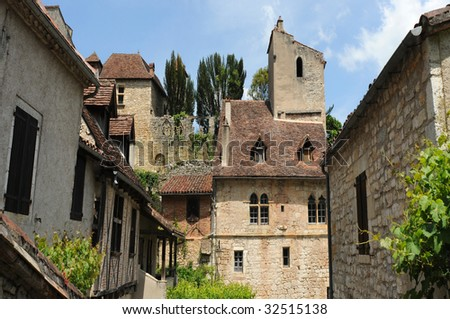 St Cirq Lapopie in the Dordogne, France