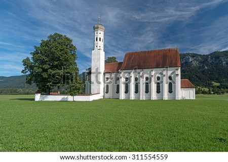 St. Coloman Church in Southern Germany