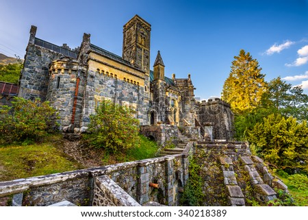 St Conans Kirk located in Loch Awe, Argyll and Bute, Scotland - stock photo