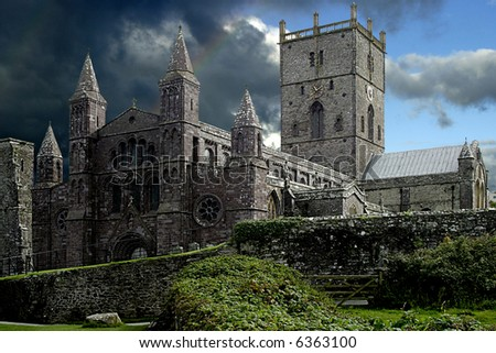 St Davids Cathedral. - stock photo