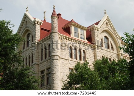 St. Edwards University main building built in 1889 - stock photo