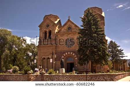 St. Francis Cathedral in Santa Fe, New Mexico - stock photo