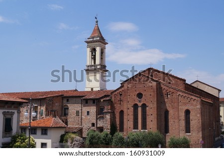 St. Francis church, Prato, Tuscany, Italy - stock photo