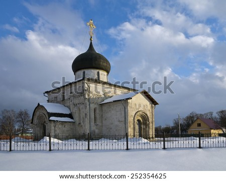 St. George's Cathedral at Yuryev Polsky was the last stone church built in Russia before the Mongol invasion  - stock photo