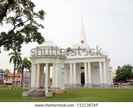 St. George's Church - George Town, Penang, Malaysia - stock photo