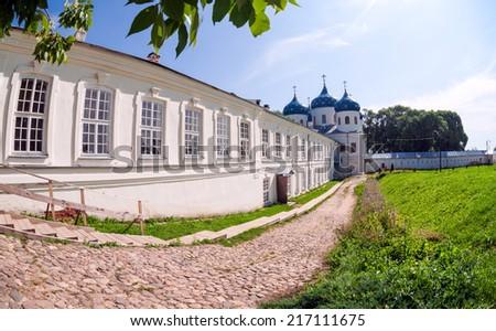 St. George's Monastery in Veliky Novgorod, Russia - stock photo