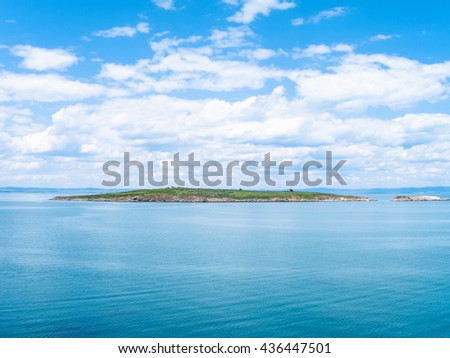 St Ivan Island - the largest Bulgarian island in Black Sea, and small St Peter Island, Bulgaria - stock photo