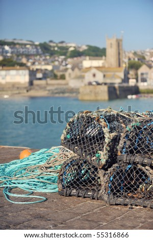 St Ives harbour, Cornwall, UK. - stock photo