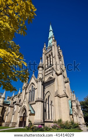 St.James Cathedral, downtown Toronto, Canada - stock photo