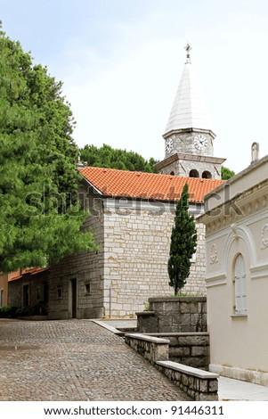 St. James church exterior in Opatija Croatia - stock photo