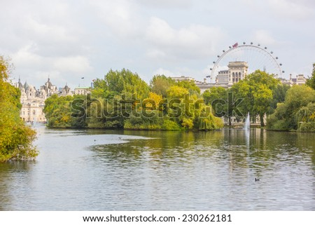 St. James Park in London - stock photo