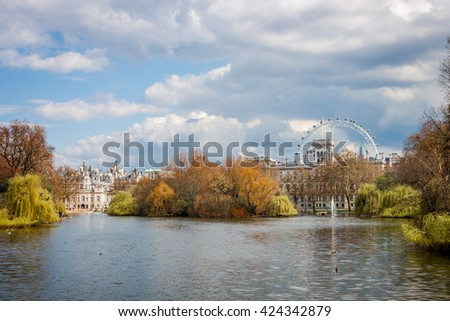 St. James Park in London, 2016 - stock photo