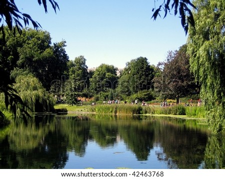 St. James's Park, a famous park in Westminster (central London), the oldest of the Royal Parks of London, UK