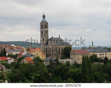 St. Jan Temple in Kutna Hora, Czech Republic - stock photo