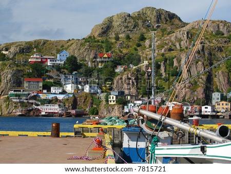 St.John's Battery, Newfoundland - stock photo