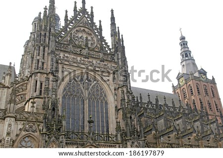 St. John's Cathedral at 's-Hertogenbosch - Netherlands - stock photo
