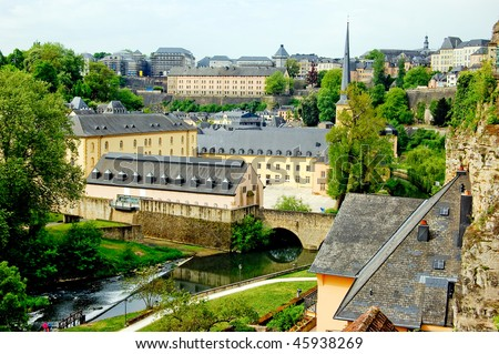 St. John's Church in Luxembourg on sunny day - stock photo