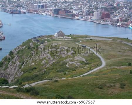 St John's harbour.  Newfoundland.  Canada. - stock photo