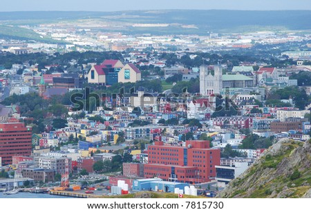 St.John's - view from top - stock photo