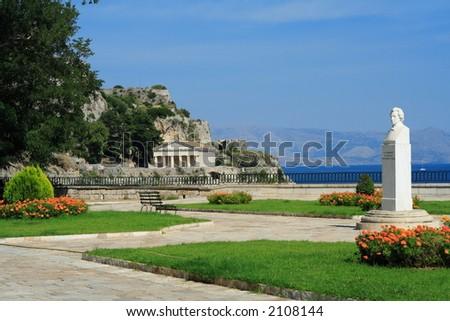 St. John temple in the Old Fortress of Corfu island Greece - stock photo