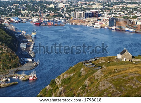 St Johns Harbour, Newfoundland Canada - stock photo