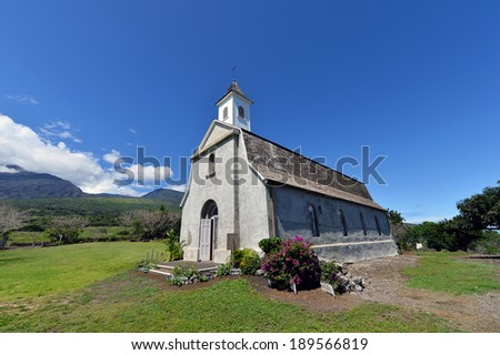 St.Joseph Church,Kaupo,Maui,Hi,Hawaii,usa-2 - stock photo