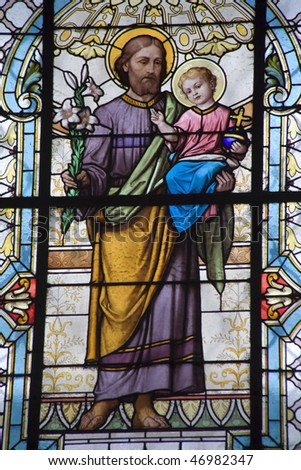 st. Joseph from Elizabeth church in Vienna - stock photo