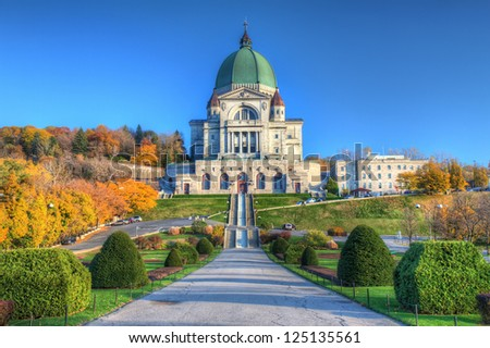 St Joseph Oratory, Montreal - stock photo