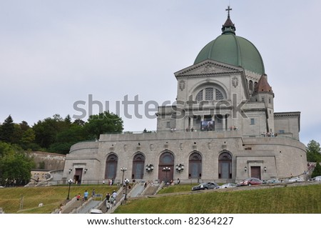 St Joseph's Oratory at Mount Royal in Montreal, Canada - stock photo